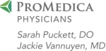 Promedica Physicians – Sarah Puckett, DO & Jackie Vannuyen, MD